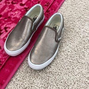 VANS metallic slip on shoes